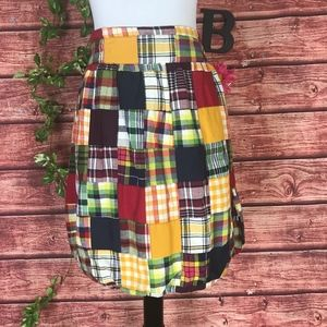 American Eagle Outfitters Skirt 6 Red Blue Plaid